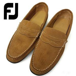 FootJoy Club Penny Tan Suede Loafer Mens 10w